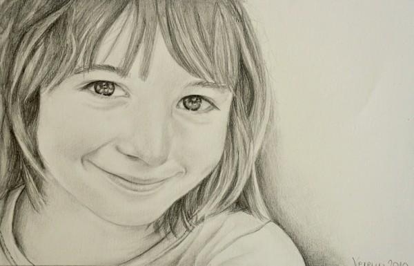 Bleifstiftportrait auf Papier